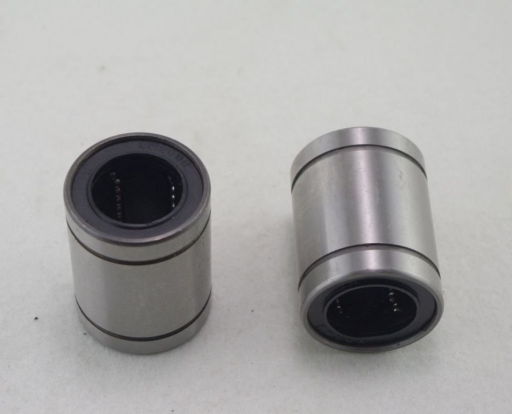 (2)Standard Type CNC Linear Roller Motion Bushing Ball Bearing LM6UU 6*12*19mm