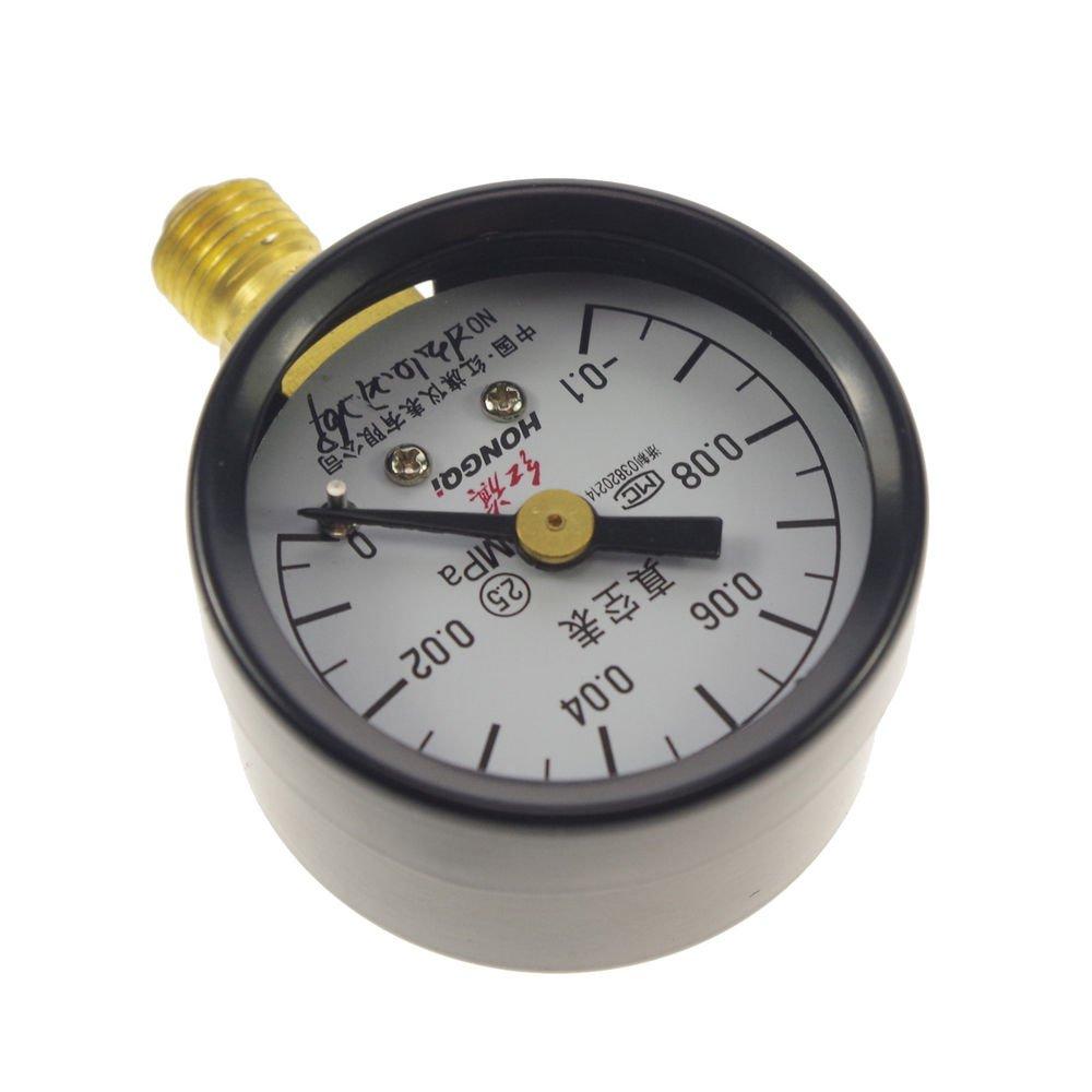 Vacuum Gauge Air Pressure Gauge Universal Gauge M10*1 40mm Dia -0.1-0Mpa