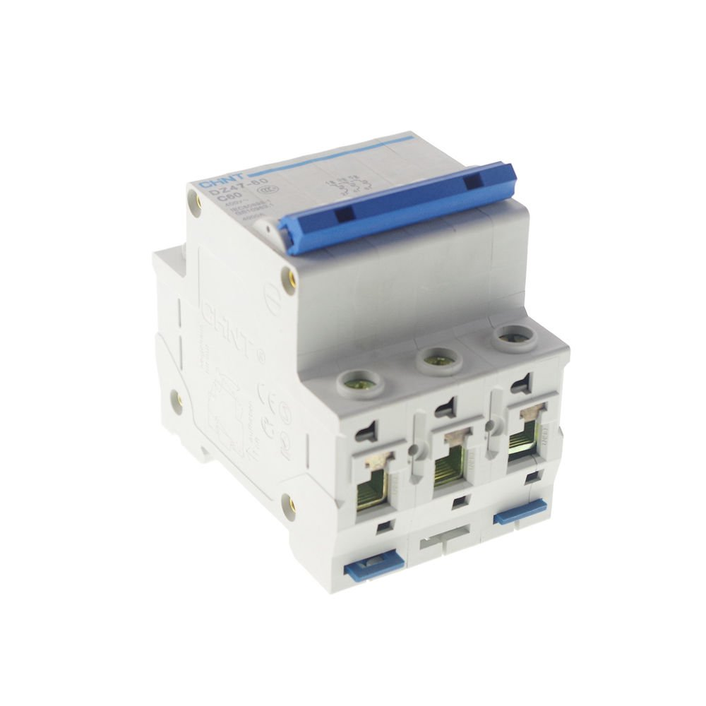 Miniature Circuit Breaker DZ47-60 (C45N) 3P C63 AC230/400V Rated Current 63A CE