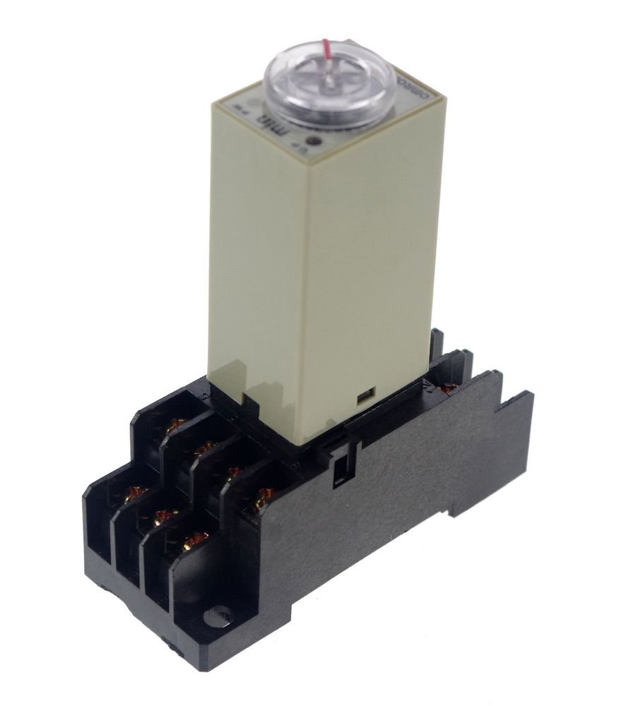 12VDC 2~60Min H3Y-4 Power On 3A Time Delay Relay Solid-State 4PDT 14 Pins Base