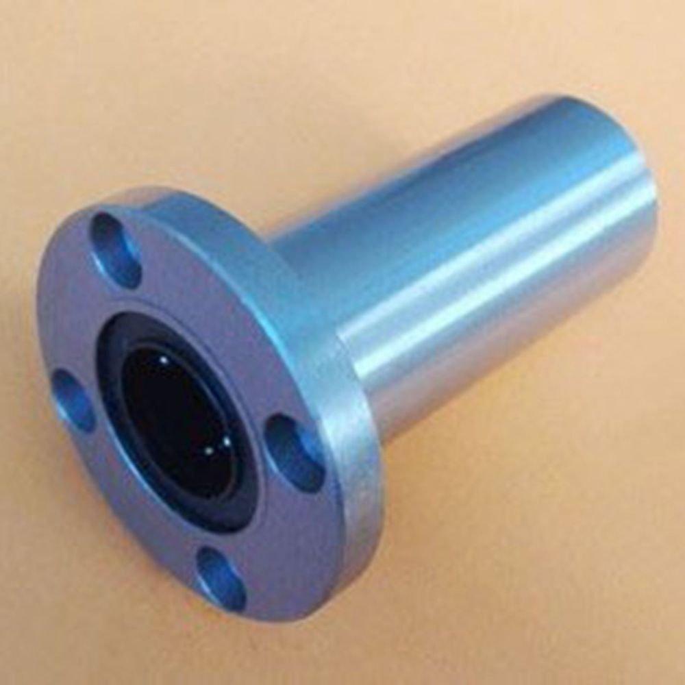 (2) 10*19*55mm Round Long Type CNC Linear Motion Metal Shield Bearing LMF10LUU