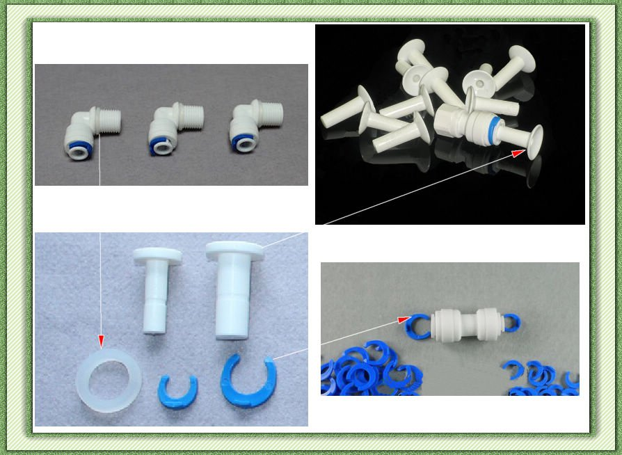 Quick Connect Clamp  Plug  Silica Gel Seals Ro Water System  Accessory