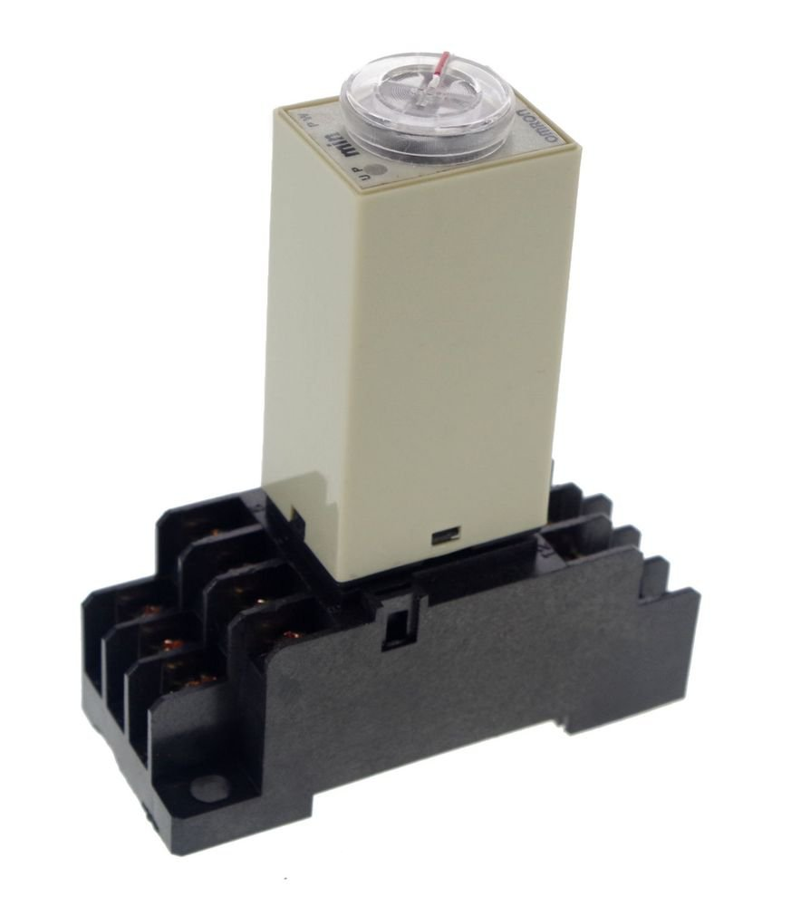 1~30Min 24V H3Y-4 Power On Time Delay Relay Solid-State Timer,4PDT,14Pins&Socket