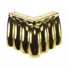Set 2pcs 65mm Golden Metal Furniture Cabinet Tea Table Bed Chair Sofa Leg Feet