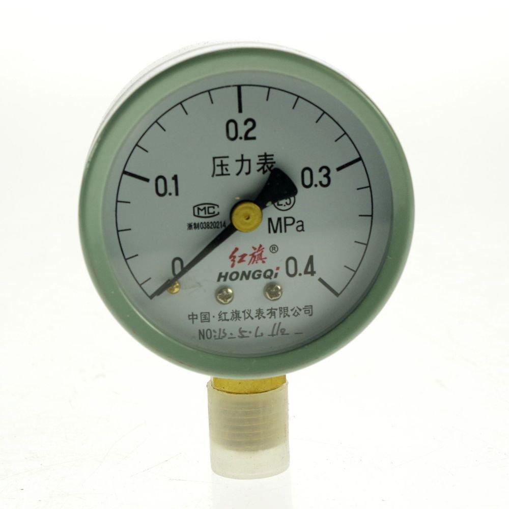 (1)0-0.4MPA Water Oil Hydraulic Air Pressure Gauge Universal Gauge M14*1.5