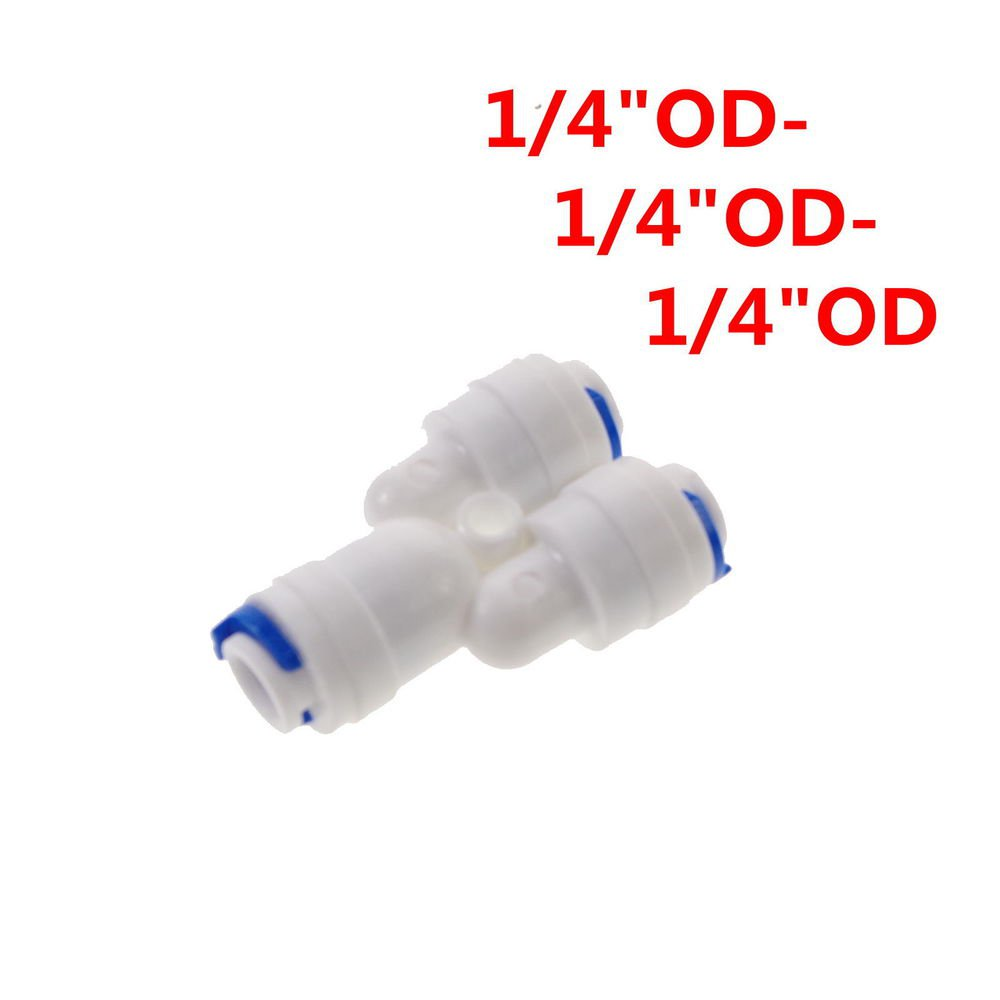 Lot3 Equal Type Y 1/4� OD Tube Connector Quick Connect Aquarium RO Water
