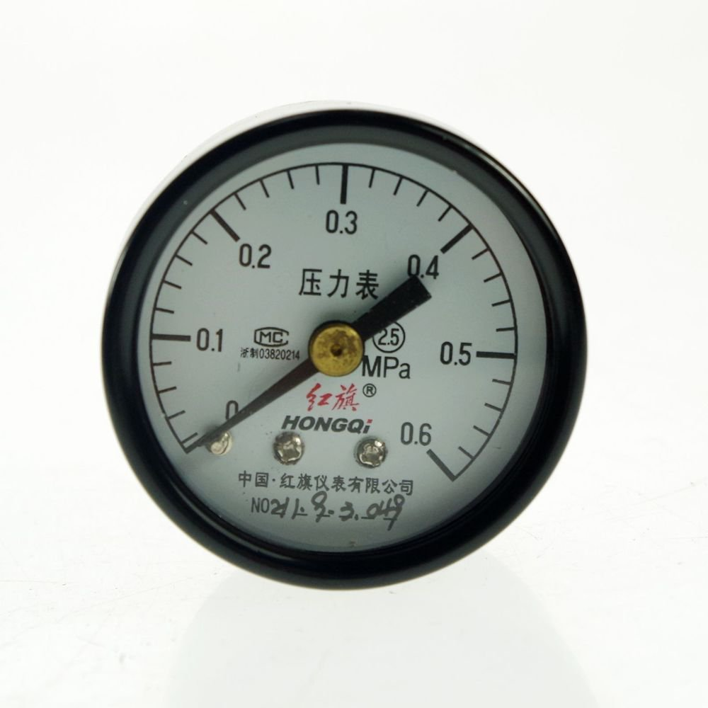 0-0.6Mpa Water Oil Hydraulic Air Pressure Gauge Universal Gauge M10*1 40mm Dia
