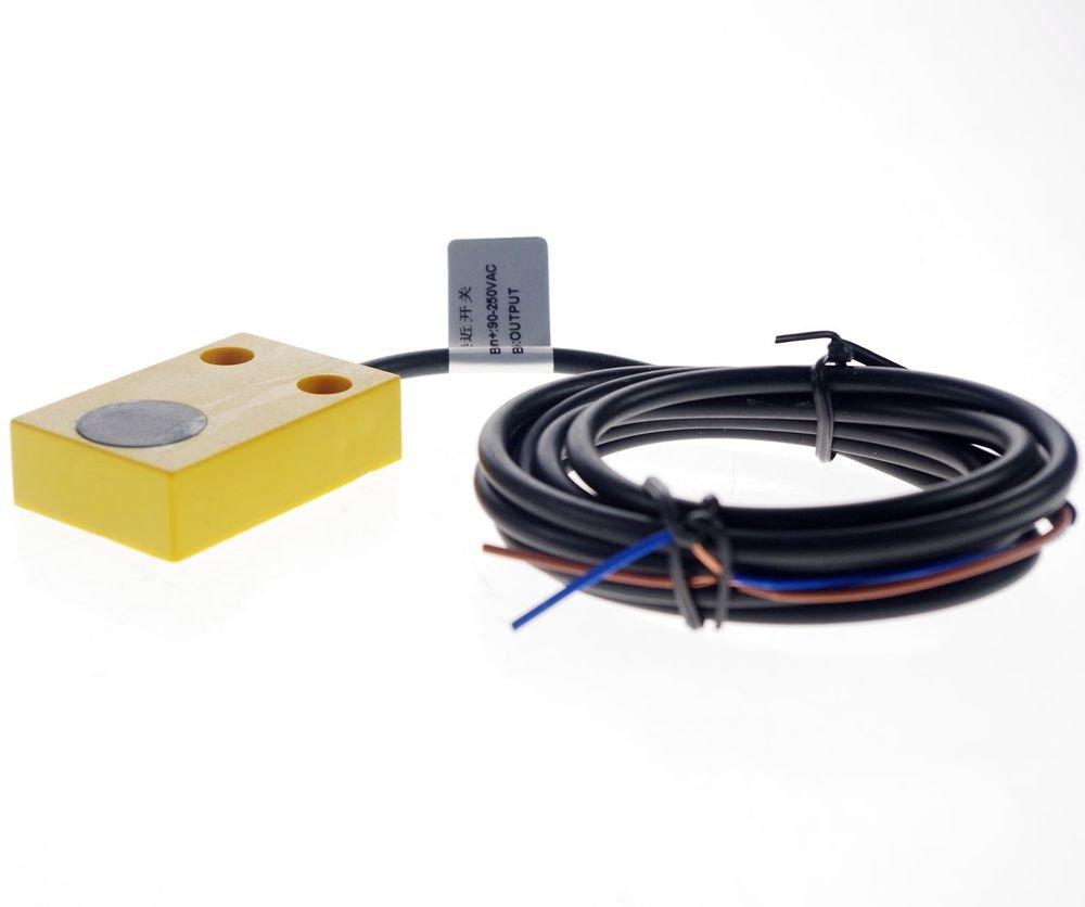 Inductive Proximity Switch Sensor TL-W7Y1 AC90-250V 2-Wire NO 45*45*1mm(Rail)