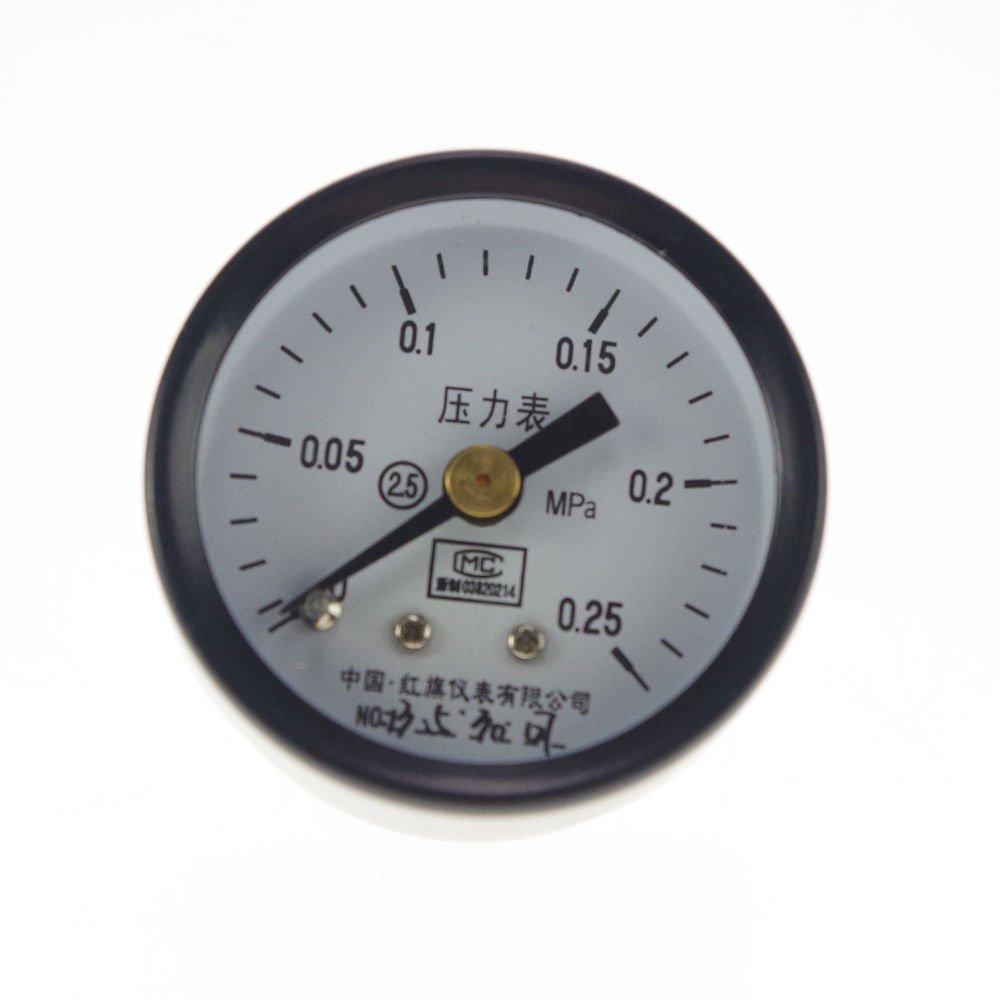 0-0.25Mpa Water Oil Hydraulic Air Pressure Gauge Universal Gauge M10*1 40mm Dia