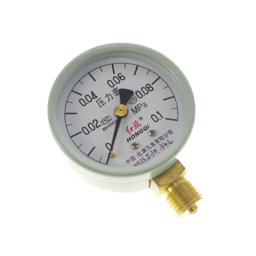 (1)0-0.1MPA Water Oil Hydraulic Air Pressure Gauge Universal Gauge M14*1.5