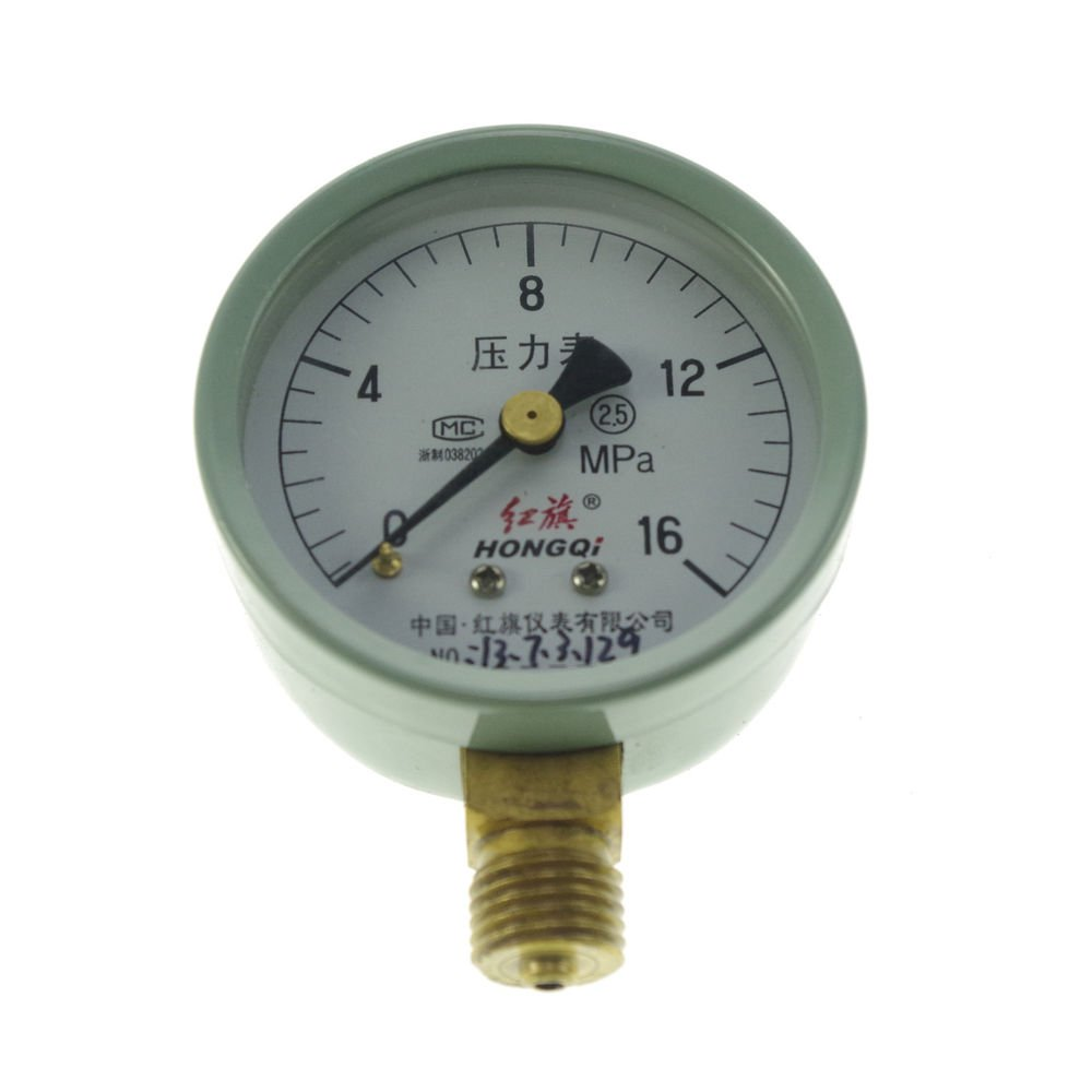 (1)0-16MPA Water Oil Hydraulic Air Pressure Gauge Universal Gauge M14*1.5