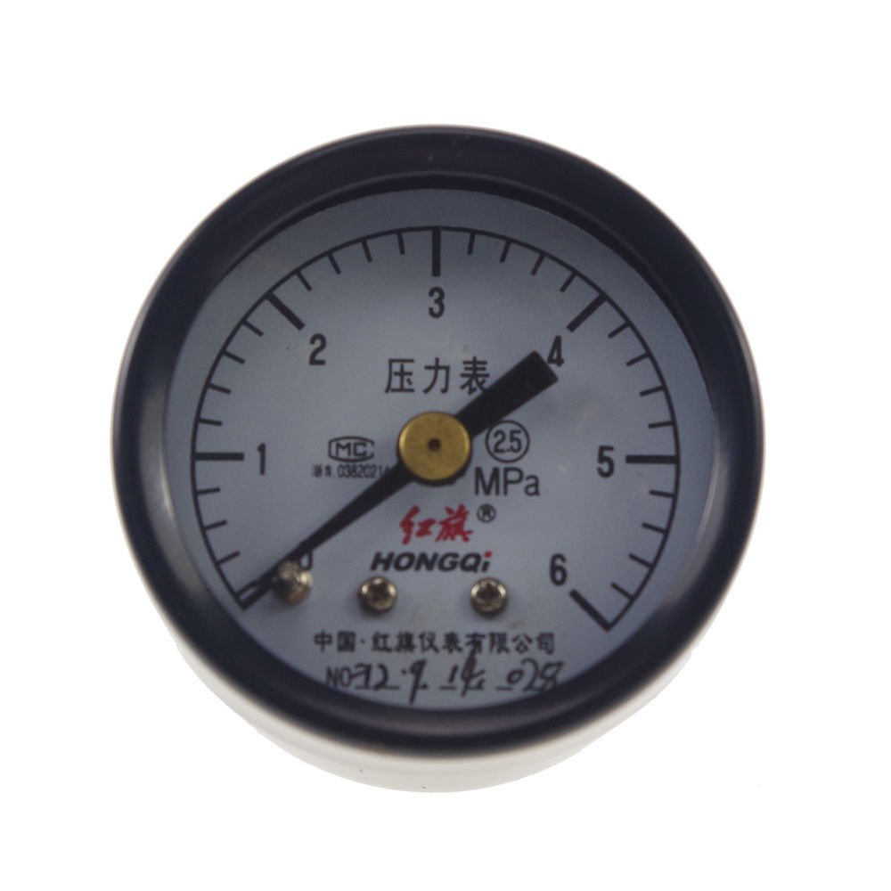 Water Oil Hydraulic Air Pressure Gauge Universal Gauge M10*1 40mm Dia 0-6Mpa