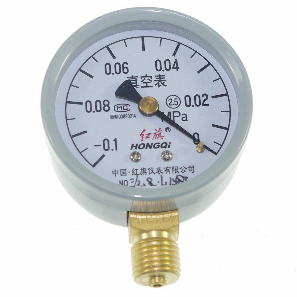 Vacuum Gauge Air Pressure Gauge Universal Gauge M14*1.5 60mm Dia -0.1-0Mpa