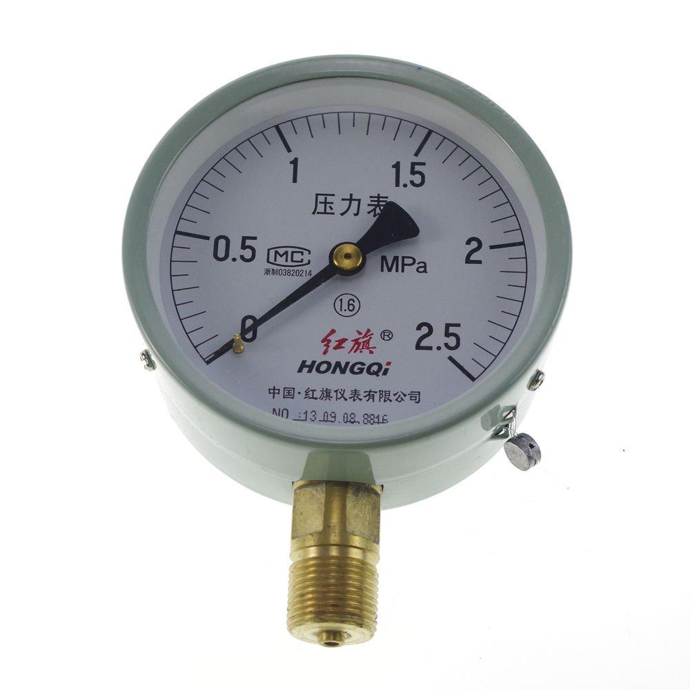Water Oil Hydraulic Air Pressure Gauge Universal GaugeM20*1.5 100mm Dia 0-2.5Mpa