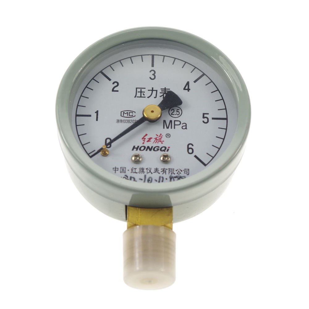 Water Oil Hydraulic Air Pressure Gauge Universal Gauge M14*1.5 60mm Dia 0-4/6Mpa