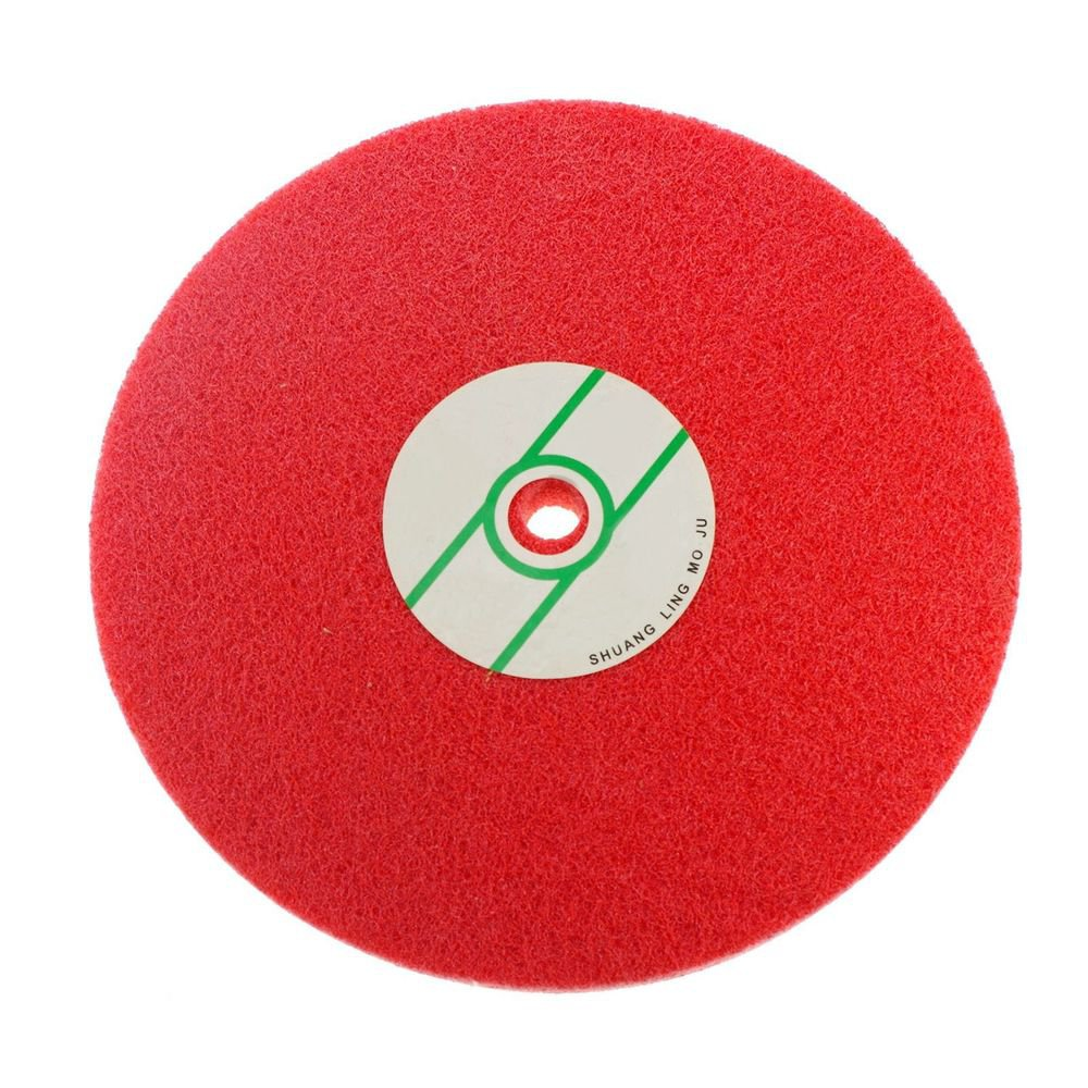 Fiber Polishing Buffing Wheel 240# Grit Nylon Abrasive 250mm Dia 7P Hardnes