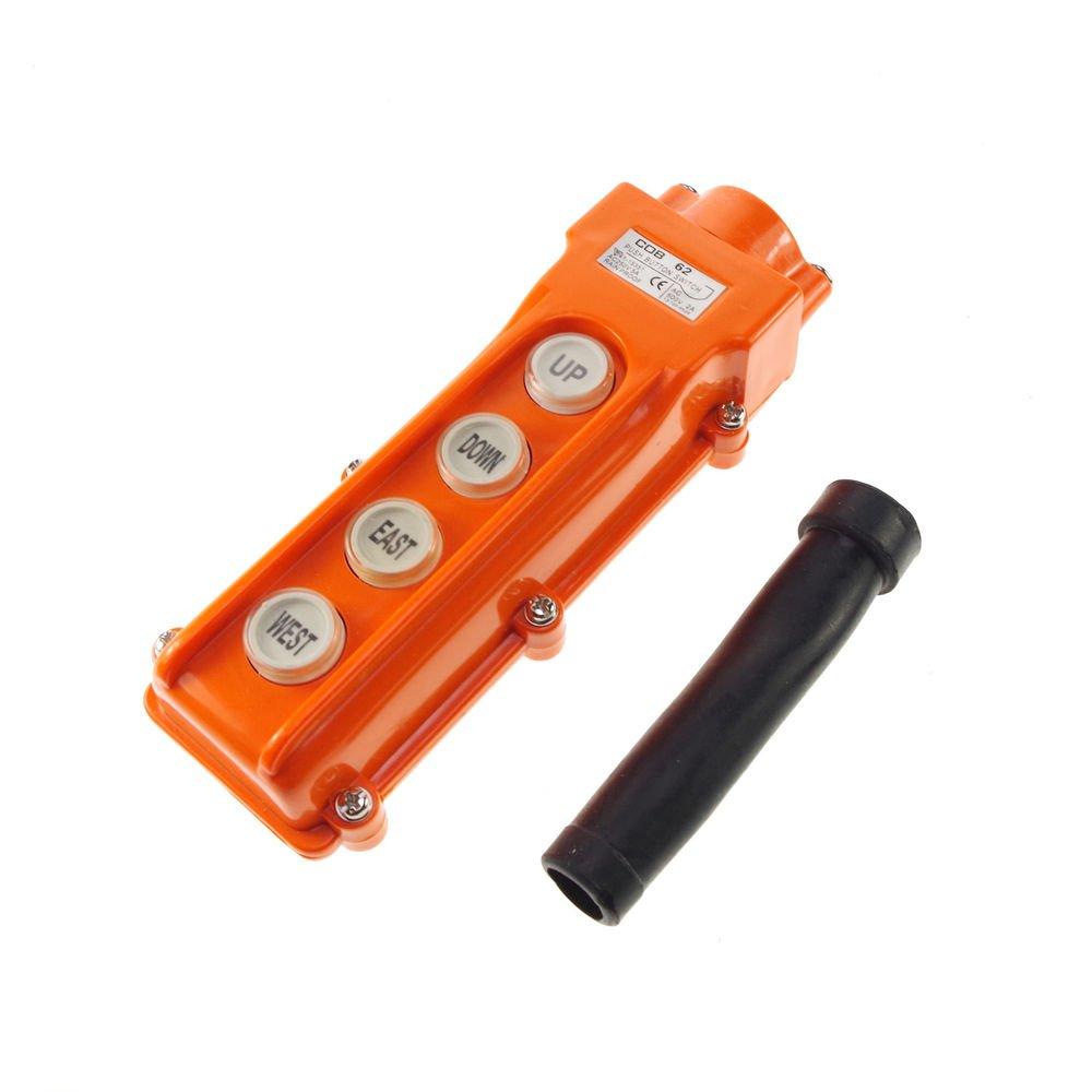 (1)COB-62 For Hoist & Crane Pendant Control Station Push Button Switch Rainproof