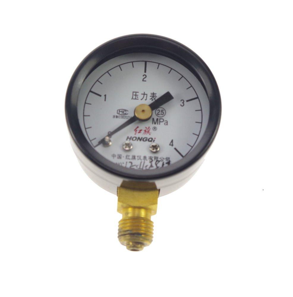 Water Oil Hydraulic Air Pressure Gauge Universal Gauge M10*1  40mm Dia 0-4.0Mpa