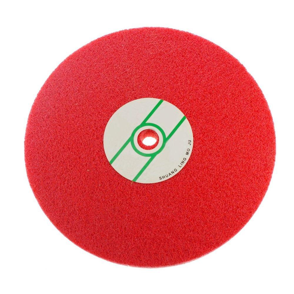 Fiber Polishing Buffing Wheel 180# Grit Nylon Abrasive 250mm Dia 7P Hardnes