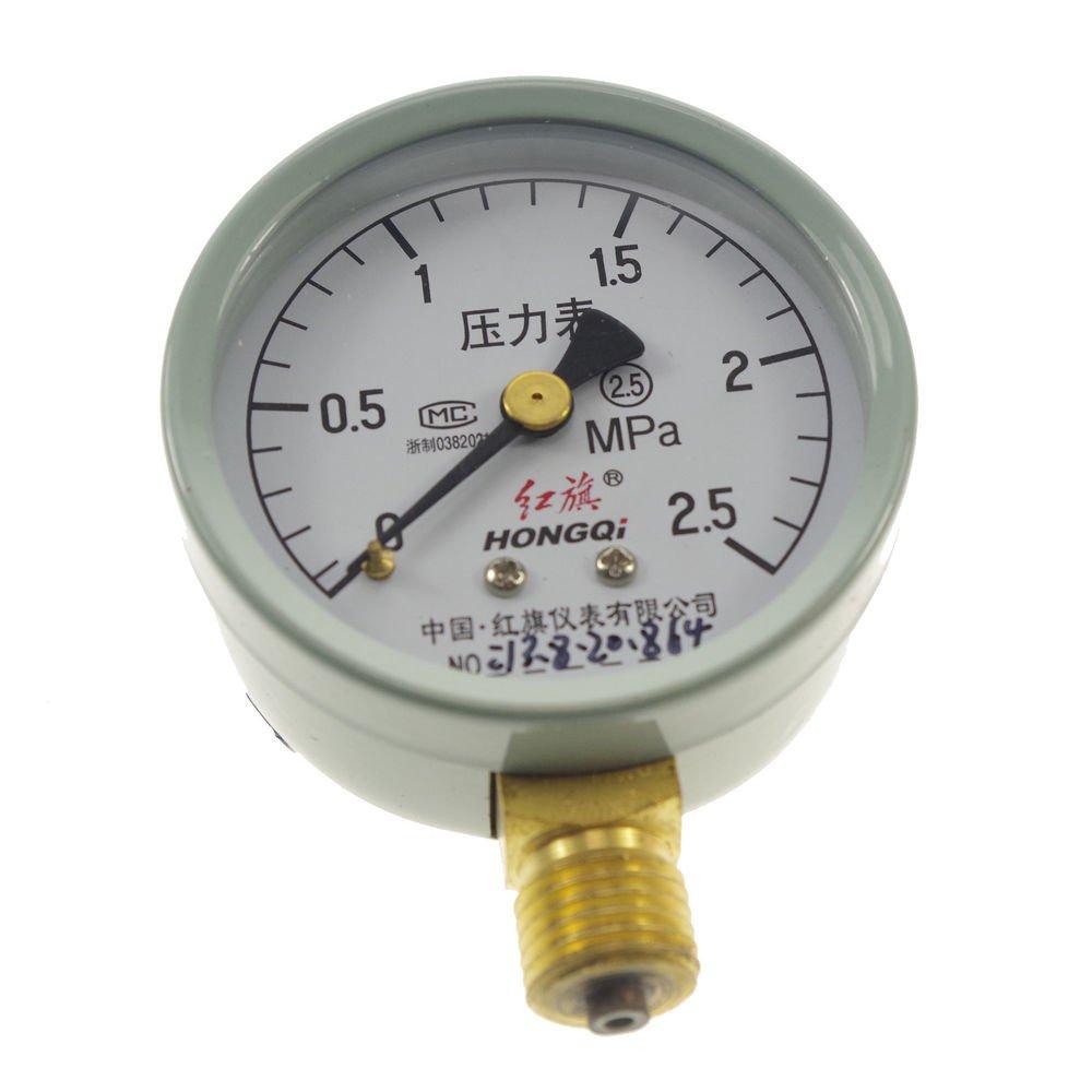 Water Oil Hydraulic Air Pressure Gauge Universal Gauge M14*1.5  0-2.5Mpa
