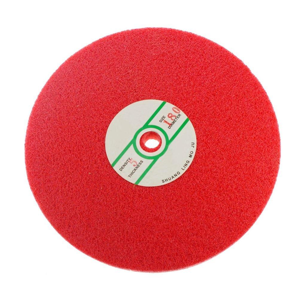 250mm Dia 25mm Thickness Fiber Polishing Buffing Wheel 180# Grit Nylon Abrasive