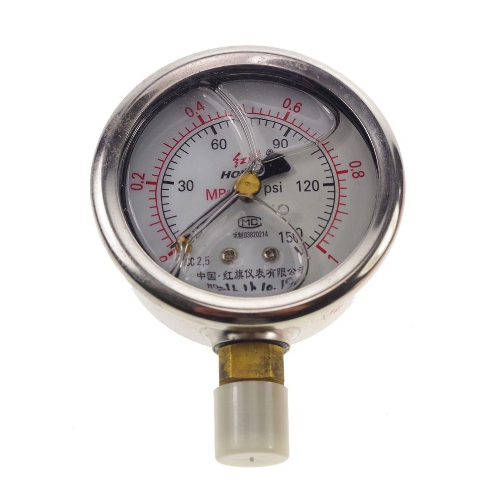 Shock-proof Pressure Gauge Universal Gauge M14*1.5 60mm Dia 0-1Mpa