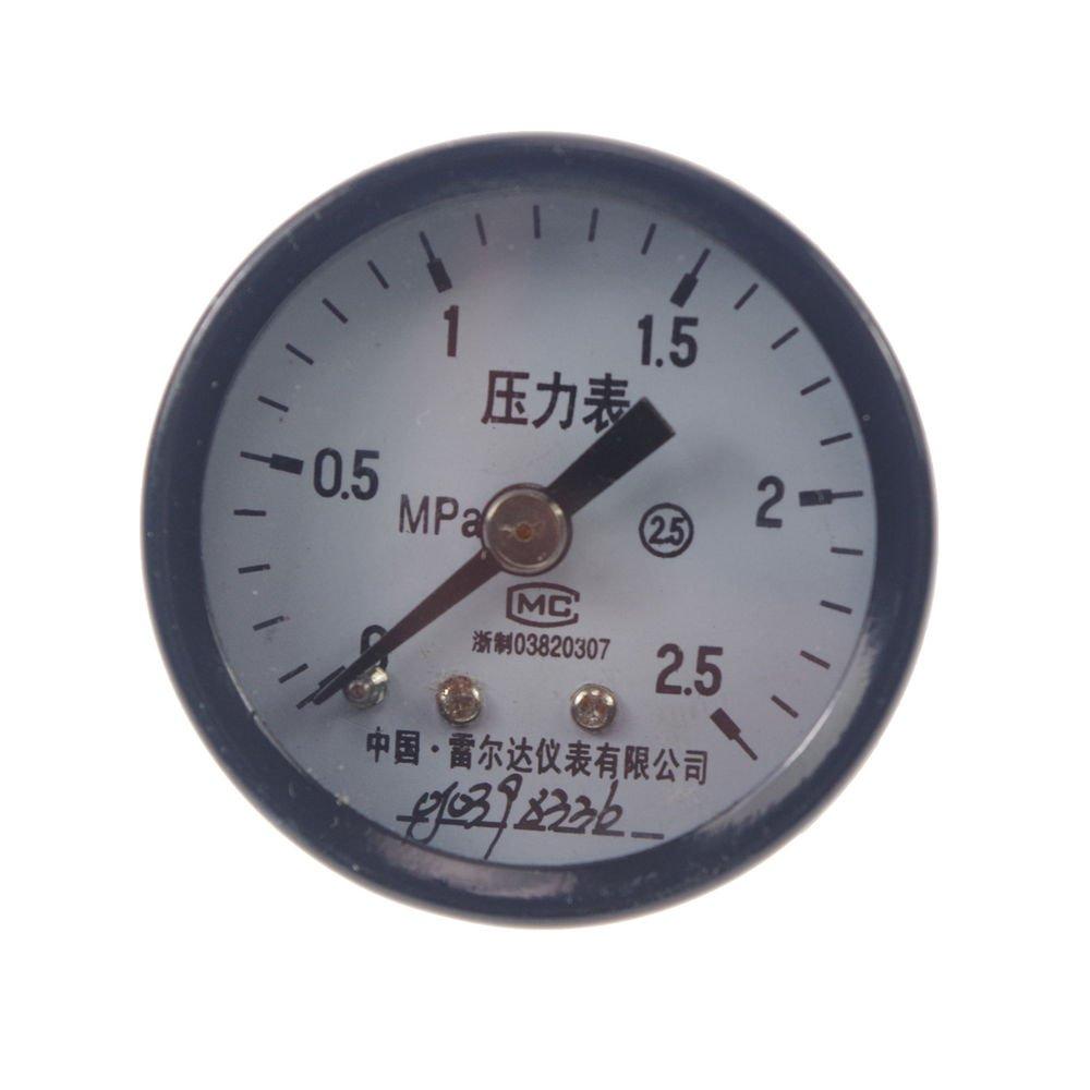 Water Oil Hydraulic Air Pressure Gauge Universal Gauge M10*1 40mm Dia 0-2.5Mpa