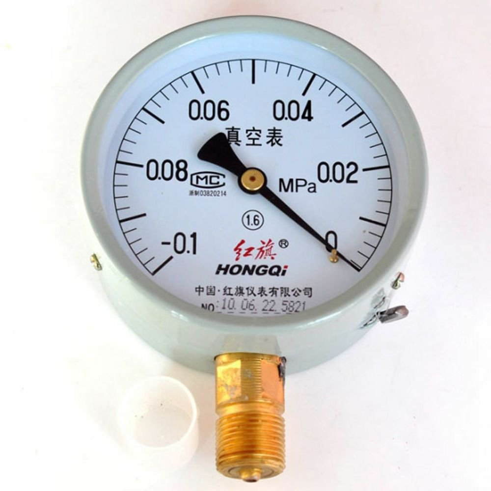 Vacuum Gauge Air Pressure Gauge Universal Gauge M20*1.5 100mm Dia -0.1-0Mpa