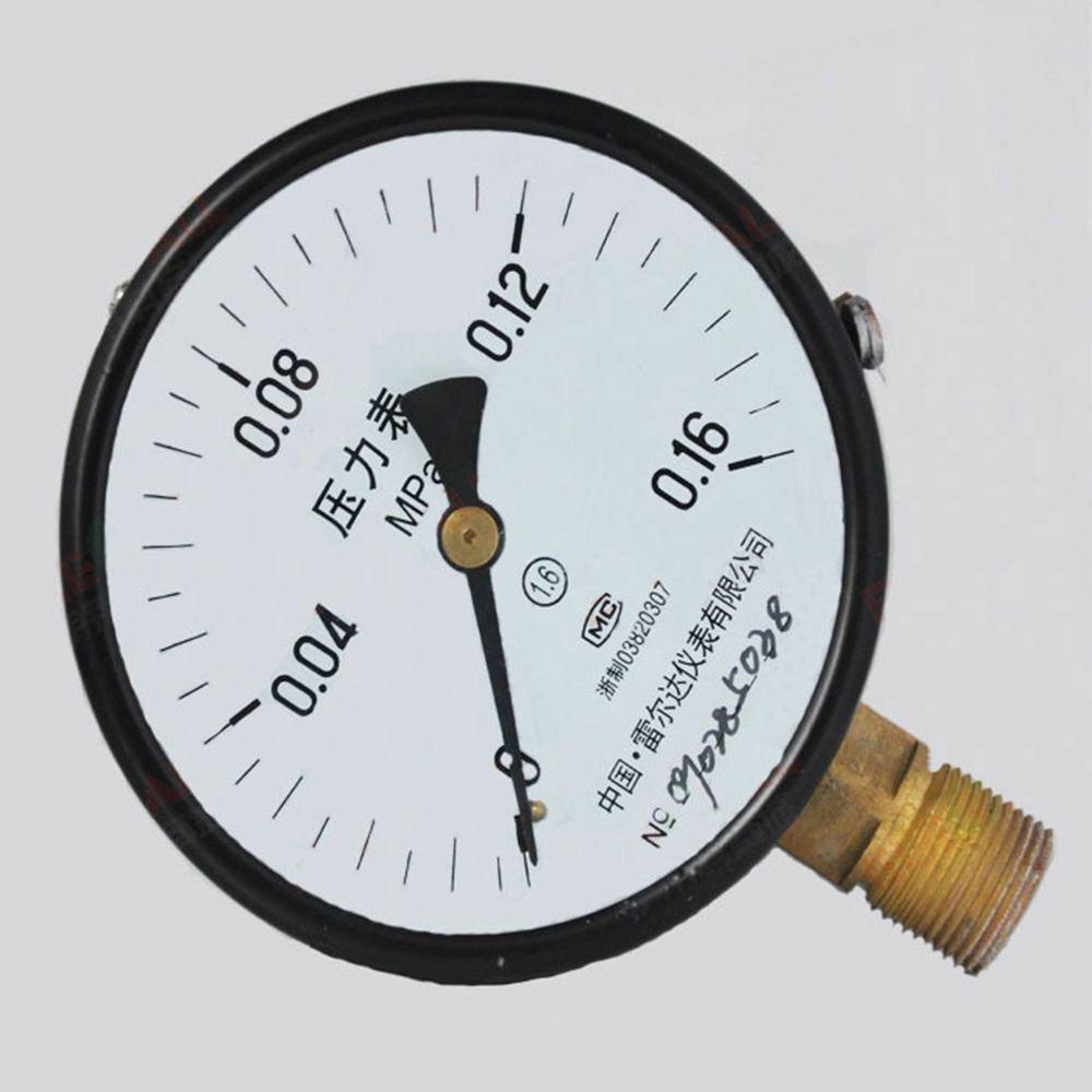 Water Oil Hydraulic Air Pressure Gauge Universal GaugeM20*1.5 150mmDia 0-0.16Mpa