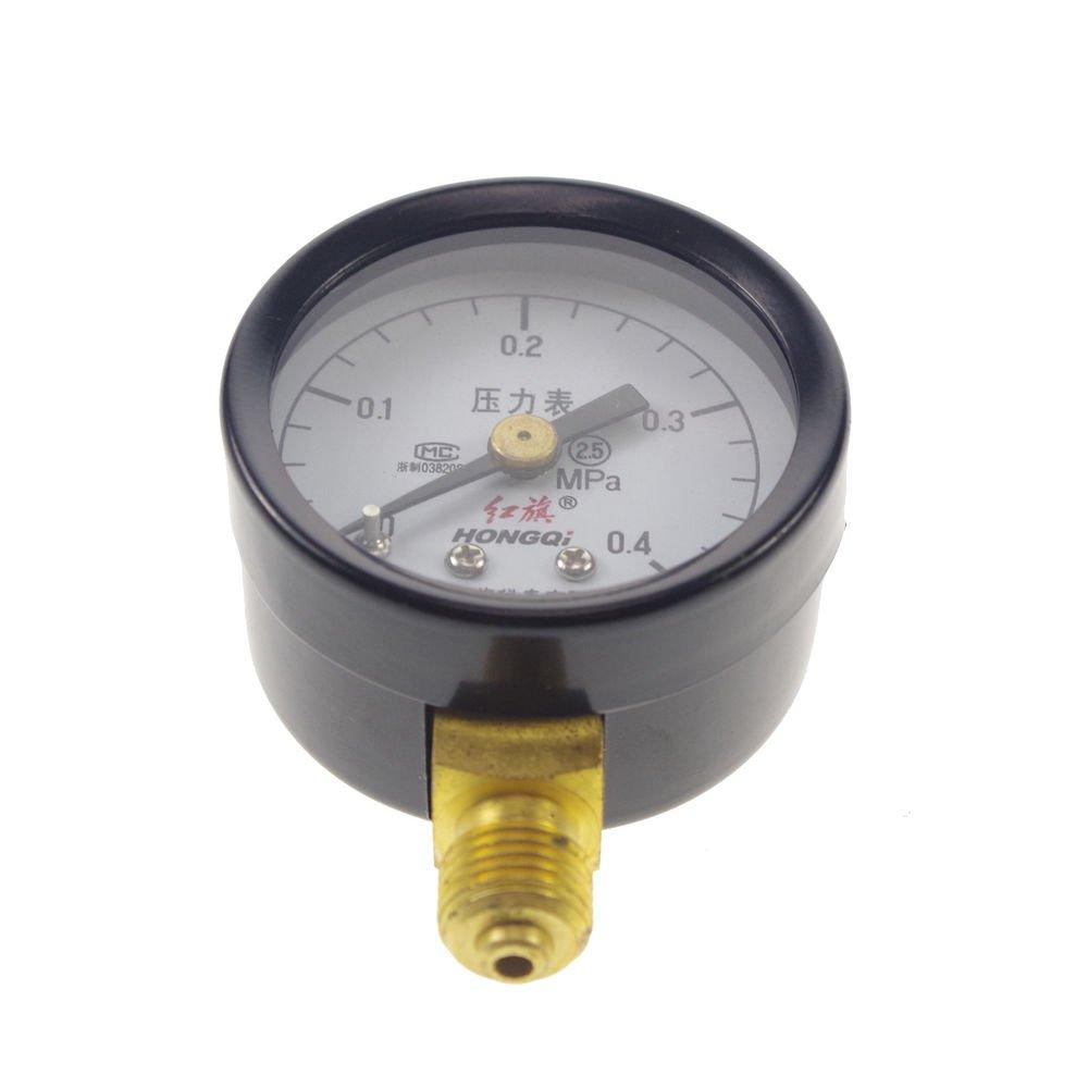 Water Oil Hydraulic Air Pressure Gauge Universal Gauge M10*1  40mm Dia 0-0.4Mpa