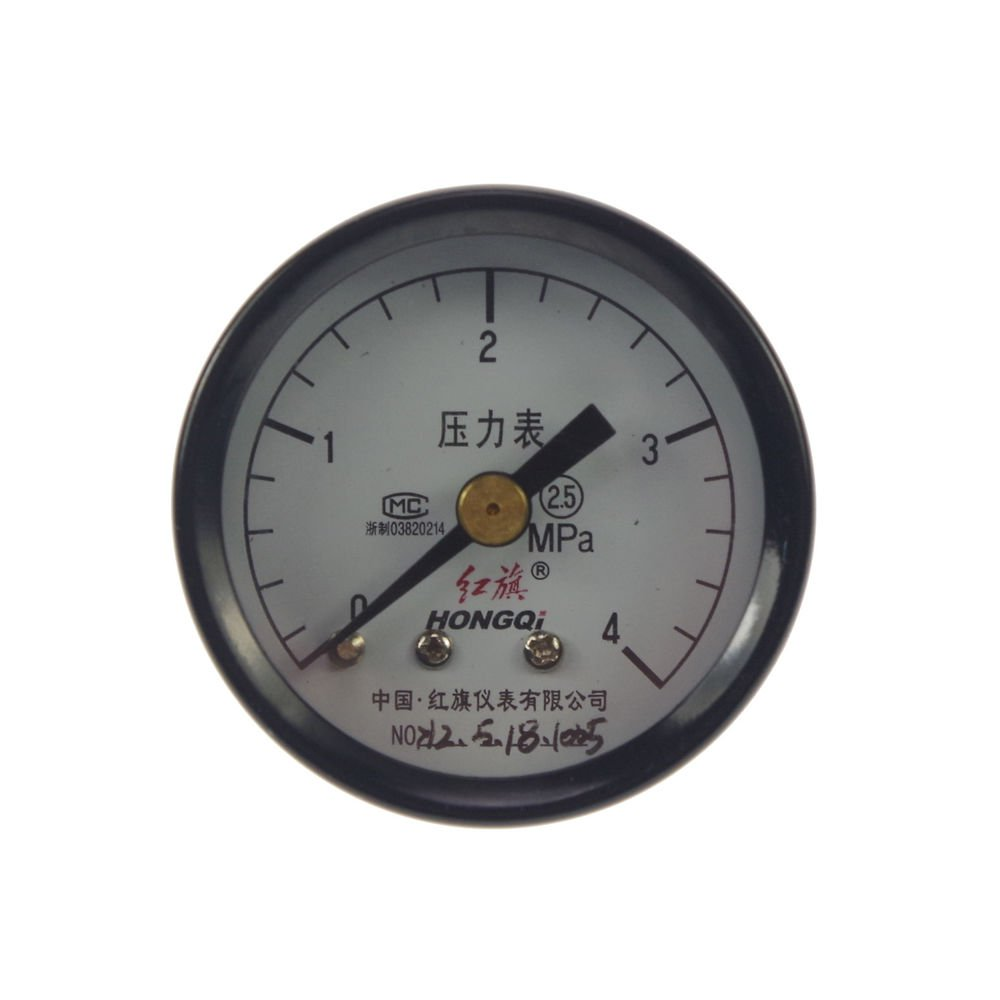 Water Oil Hydraulic Air Pressure Gauge Universal Gauge M10*1 40mm Dia 0-4Mpa