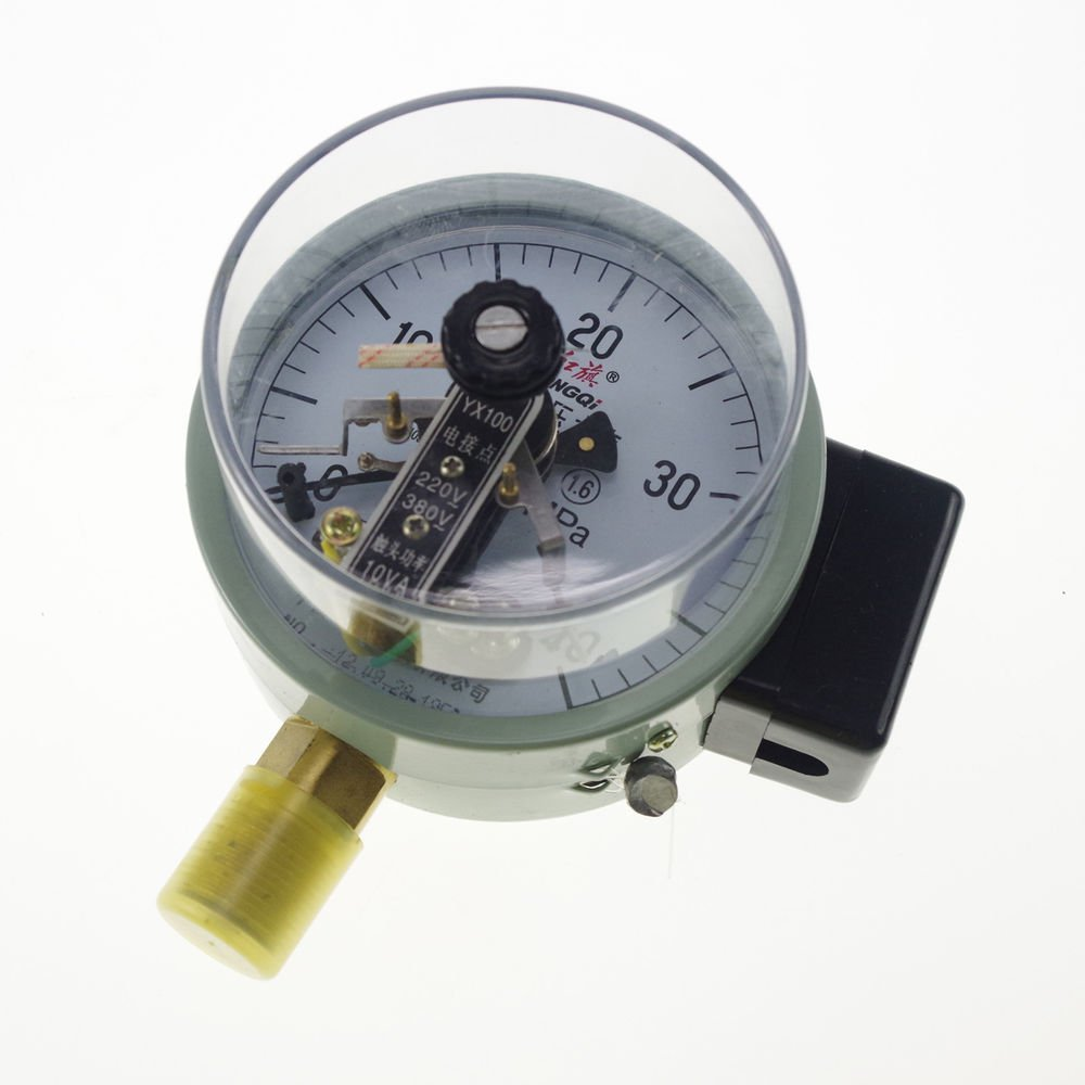 Electric Contact Pressure Gauge Universal Gauge M20*1.5 100mm Dia 0-40Mpa