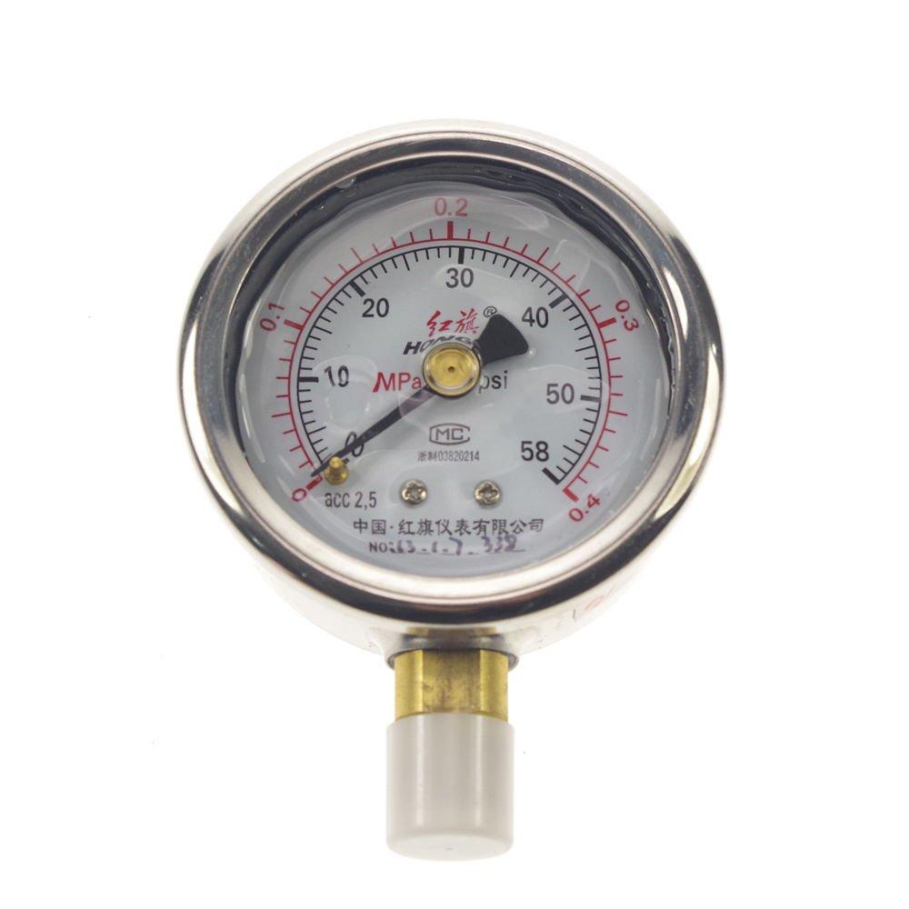 Shock-proof Pressure Gauge Universal Gauge M14*1.5 60mm Dia 0-0.4Mpa