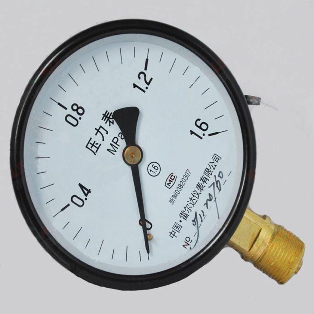 Water Oil Hydraulic Air Pressure Gauge Universal GaugeM20*1.5 150mm Dia 0-1.6Mpa