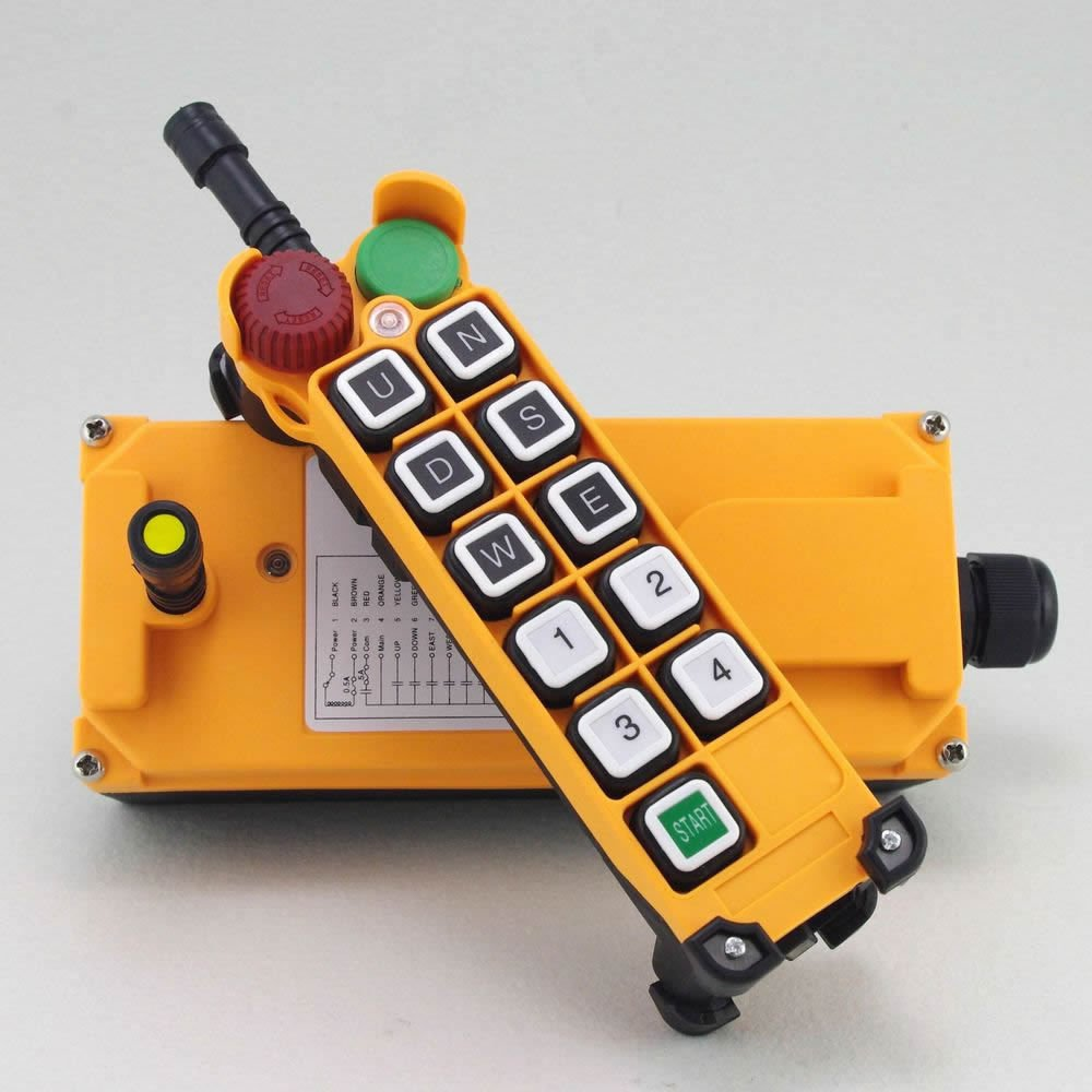1 Speed  5 Motion Hoist Crane Truck Radio Remote Control System with E-Stop