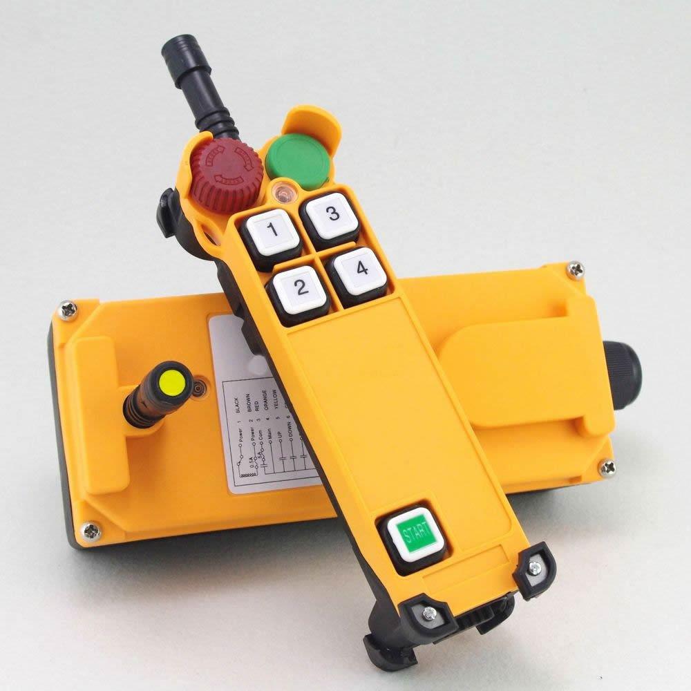 12V Single Speed 2 Motion Hoist Crane Truck Radio Remote Control System E-Stop