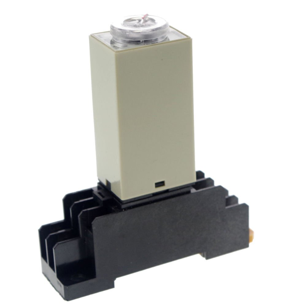 5 MINUTE 3A 12VDC H3Y-2 Power On 3A Time Delay Relay Solid-State DPDT Socket