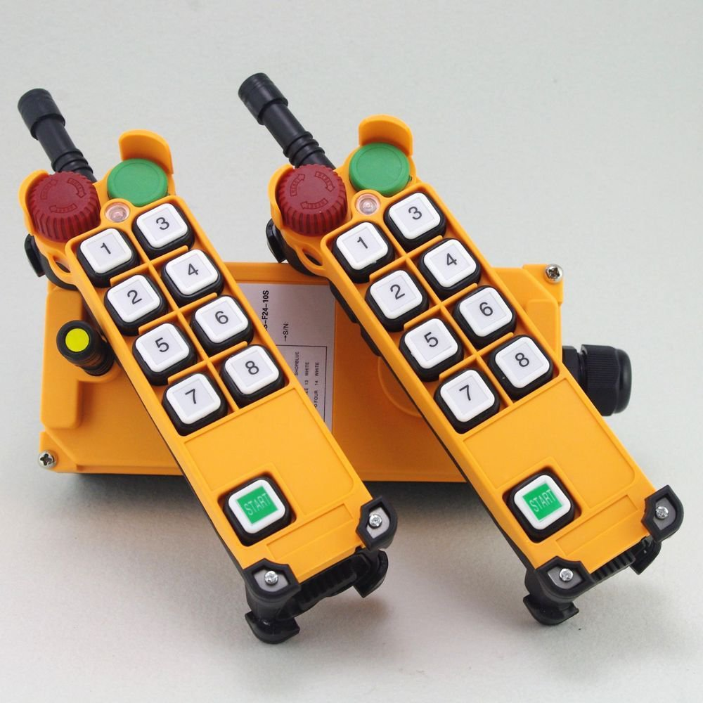 1 Speed 4 Motion 2 transmitters Hoist Crane Remote Control System Emergency-Stop