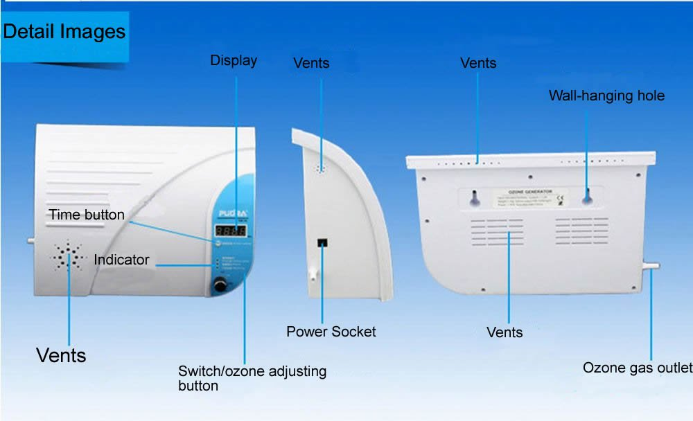 220V Disinfection to Beriberi Active Oxygen Wall-mounted Desktop Air Purifier