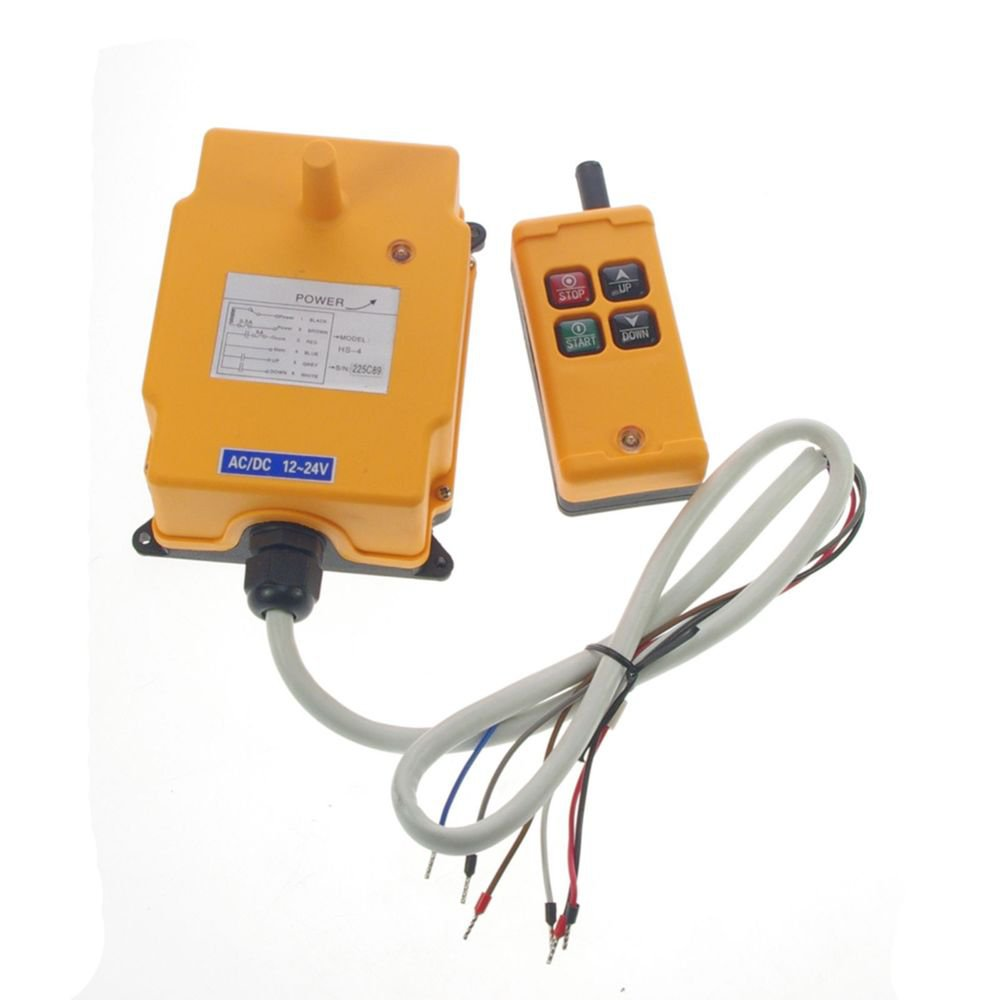 One Motion One Speed Hoist Crane Truck Radio Remote System Controller 48V