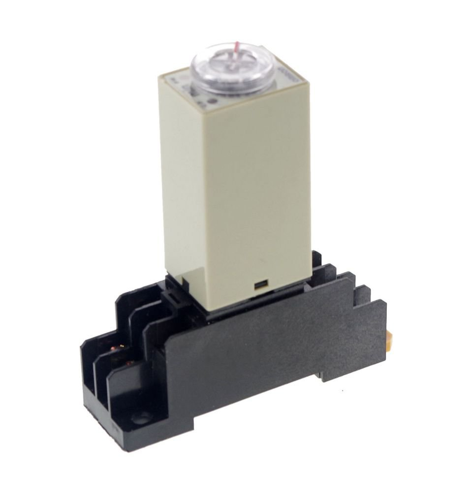 24VAC 10 MINUTE H3Y-2 Power On 3A Time Delay Relay Solid-State DPDT And Socket