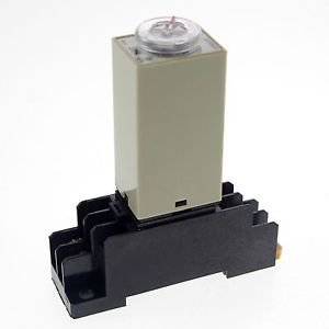 0.1-3S 110V H3Y-2 Power On Time Delay Relay Solid-State Timer DPDT 8Pins&Socket