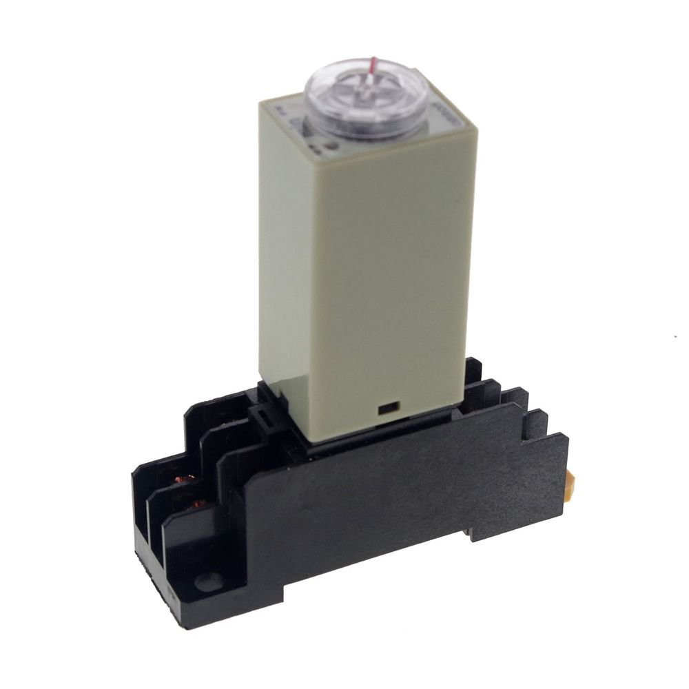 H3Y-2 Power On Time Delay Relay Solid-State 10 MINUTE DPDT 8Pins & Socket 220VAC