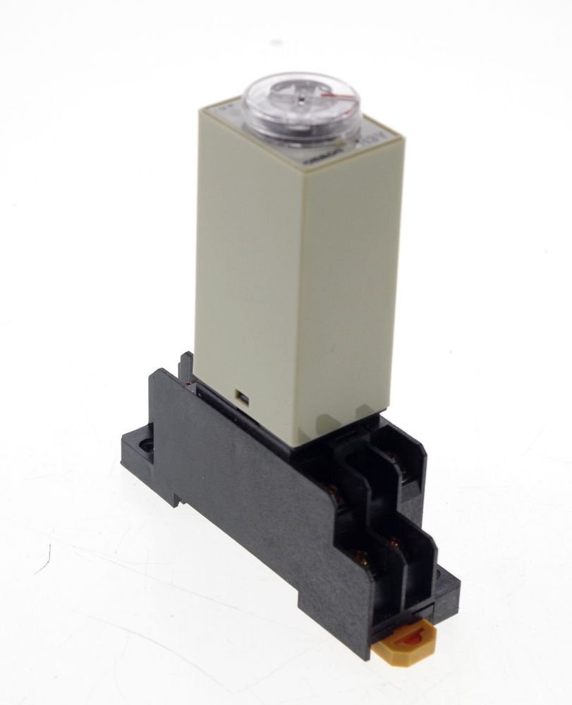 24VDC H3Y-2 Power On 3A Time Delay Relay Solid-State Timer 0.2-5S DPDT Socket