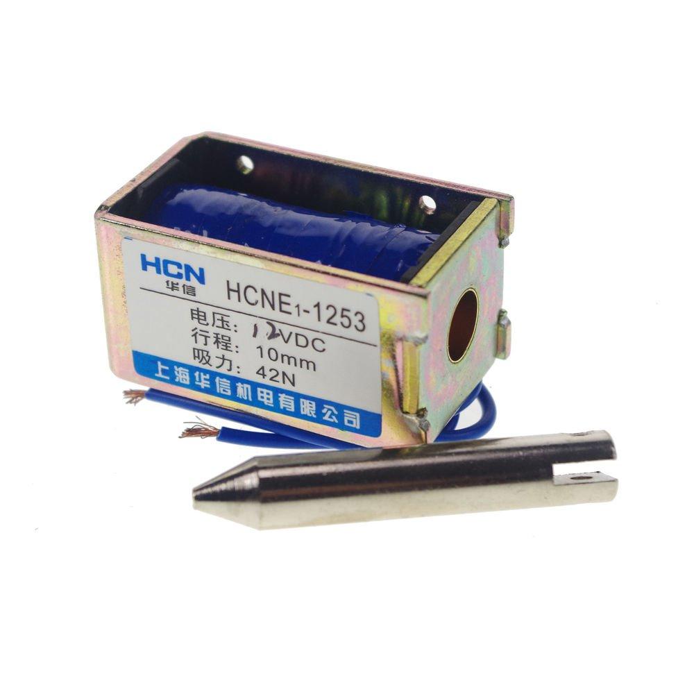 12V 4.2kg 9LB 10mm Stroke  force Electromagnet Solenoid