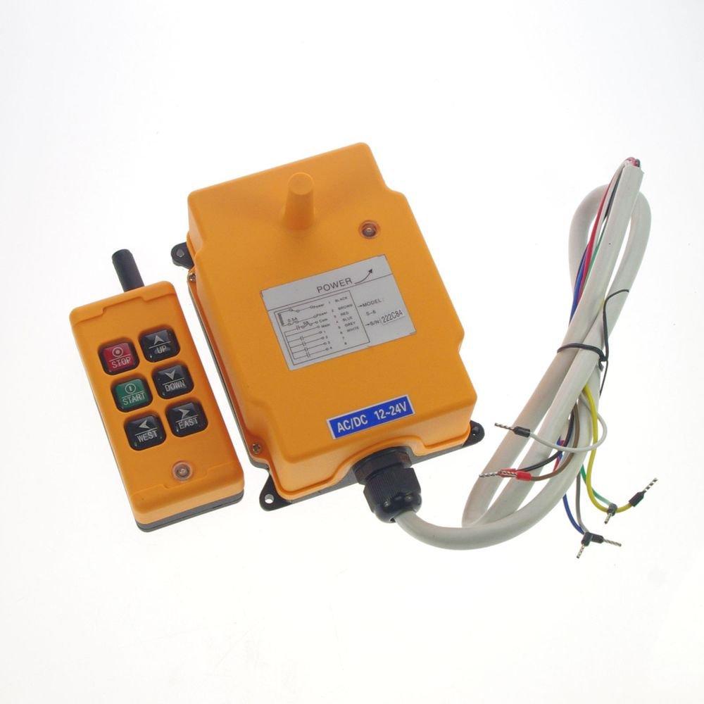 110V 6 Channels 1 Speed Hoist Crane Truck Radio Remote System Controller 150m