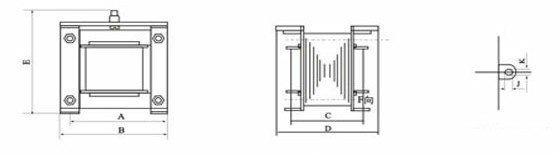 Input AC 380V Output AC 220V Single Phase Volt Control Transformer 50VA Power