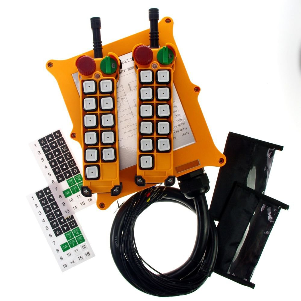 5 Motions 2 Speed Buttons Hoist Crane Remote Control System Controller E-Stop