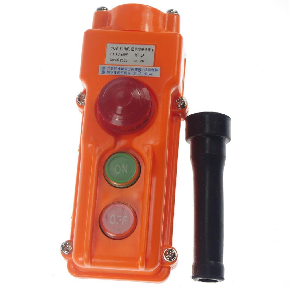 (1)COB-61HB For Hoist Crane Pendant Control Station Push Button Switch Emergency