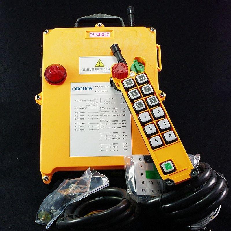 12VDC 6 Motions 1 Speed Hoist Crane Truck Radio Remote Control System Controller